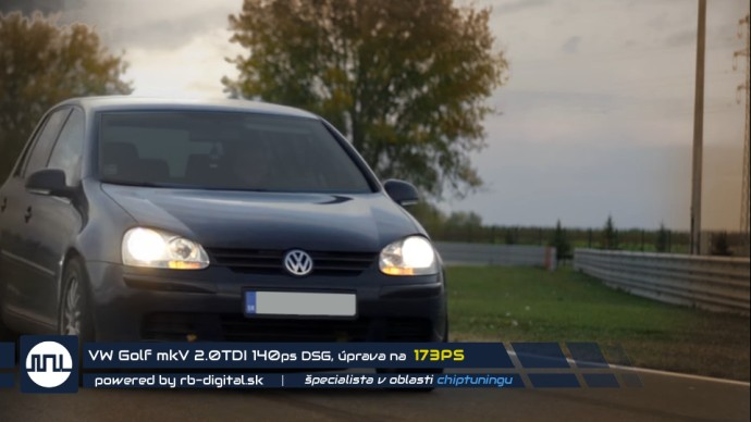 Chiptuning VW Golf 5 2.0 TDI stage 1