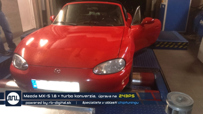 Chiptuning Mazda MX-5 1.8 + turbo